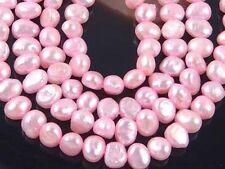 "4x5mm Pink genuine Freshwater Pearl Potato Beads 16"""