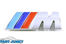 BMW M3 Sport Grille Emblem Front Grill Badge Chrome Logo Tri Color M-Tech NEW