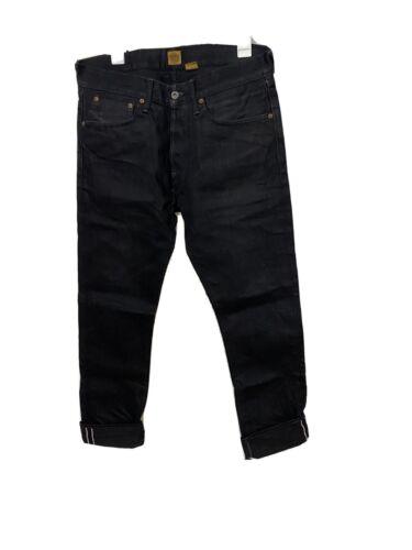 Indigofera black jeans gunpowder selvedge denim 32