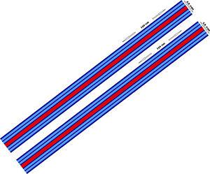 2-x-Le-Mans-Martini-style-Stripe-156-cm-long-12cm-wide-Sticker-decal-A648llmm
