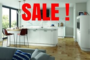 Details About Vivo Matt White Complete Kitchen Cabinets Package Offer New