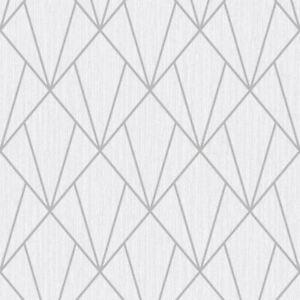 Indra Geometrische Tapeten Silber Grau Muriva 154101 Ebay