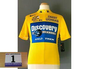 Details zu Discovery Channel US Postal Gelbes Trikot Nike Lance Armstrong Tour de France