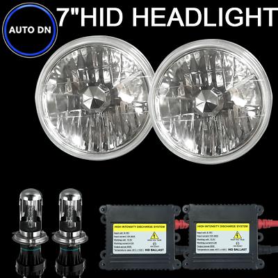 "H4 HID Light Bulbs Headlight 6000K White 7/"" beam Hi//Lo 2pcs For Jeep Wrangler"