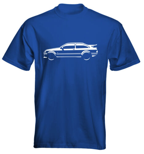 Velocitee Mens Premium T-Shirt Ford Sierra Cosworth Size /& Colour Options