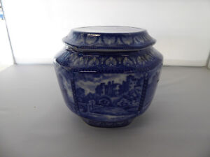 Vintage-MALING-WARE-TEA-CADDY-Biscuit-Jar-1929-CASTLES