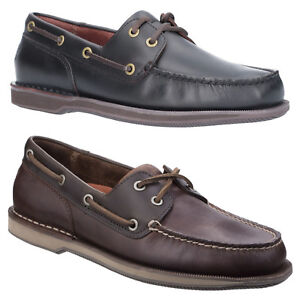 bdf99b5b95 Image is loading Rockport-Perth-Boat-Shoes-Padded-Leather-Classic-Casual-