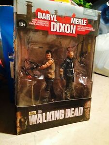 The Walking Dead Tv Merle et Daryl Dixon Figurine Action Mcfarlane, ensemble de 2