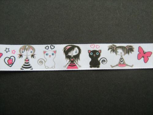 Kostüm//Handarbeiten// Katze Girl /& Schmetterling Ripsband 2.2cm X1m Nähen