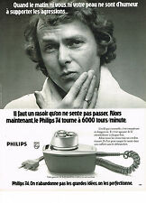 PUBLICITE  1974   PHILIPS  rasoir 6000 tours/  minute