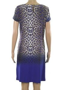 Ex-Debenhams-ladies-blue-beige-animal-print-jersey-dress-sizes-12-20-RRP-35