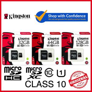 Kingston 32GB 64GB 128GB Micro SD SDHC SDXC Flash Memory Card Class 10 microsd