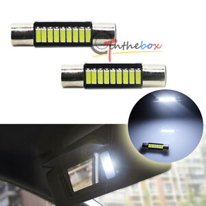 2pcs HID White Car Vanity Mirror Lights Sun Visor Lamp 9-SMD-4014 6614F LED Bulb eBay