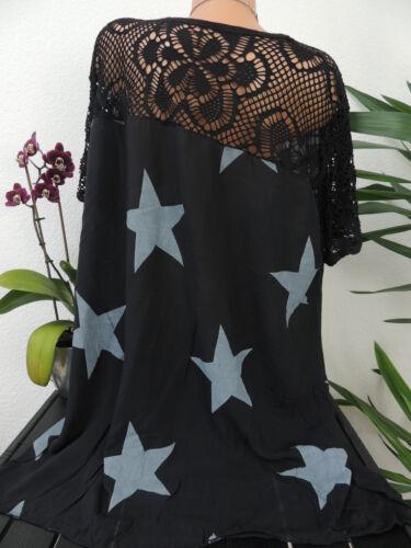 Haut Femmes Taille 46 48 50 52 54 grande taille étoiles Mu Tunique Blouses T Shirt 123d