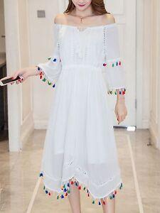 huge discount f1ee8 b9e23 Dettagli su Elegante raffinato vestito abito bianco tubino morbido manica  colorato 3753