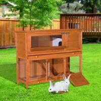 "2 Tier Elevated Wooden Rabbit Hutch Bunny House /47"" bunny coop Oshawa / Durham Region Toronto (GTA) Preview"