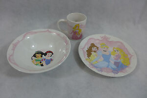 Image is loading Disney-Princesses-Dinnerware-Set-Ceramic-3-Piece-Set- : disney dinnerware set - pezcame.com