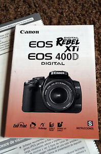 canon rebel xti digital eos 400d instruction manual book spanish rh ebay com canon eos rebel xt instruction manual canon rebel xti user manual pdf
