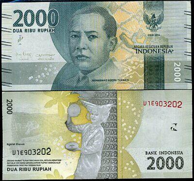 Indonesia 2000 Rupiah p-155c 2016 UNC Banknote 2017
