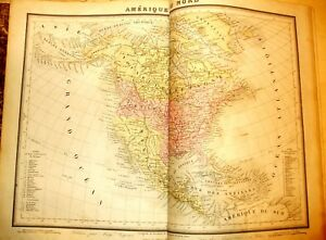 Atlas 31 Cartes Cinq Parties Monde Logerot Tardieu Fremin Gravures / Acier