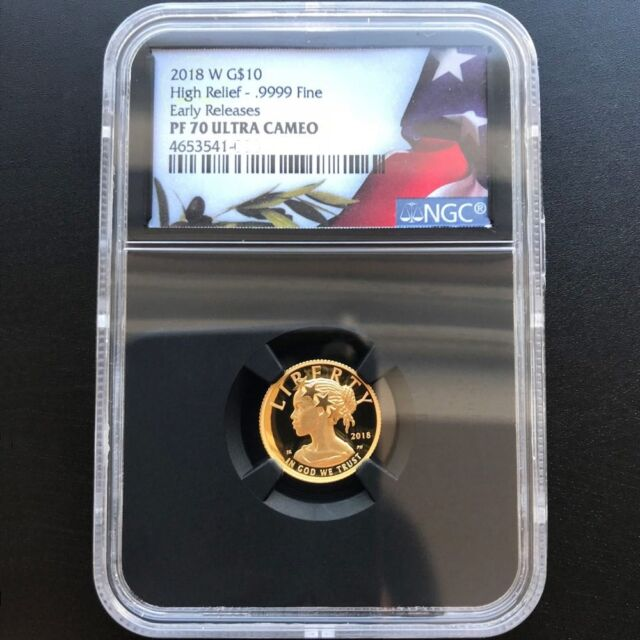 2018W American Liberty Eagle 1/10oz Gold Proof Coin NGC PF 70 UC Early Releases