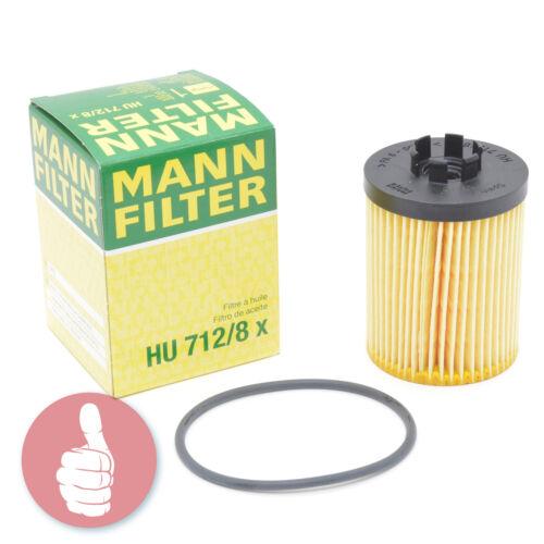 Original MANN-FILTER Ölfilter HU 712//8 X Opel Astra G H Corsa C D Meriva Combo