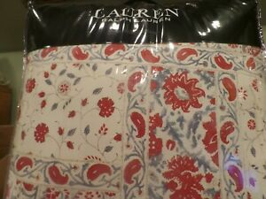 c74159d1 RALPH LAUREN Kelsey Bohemian Red Blue Cream Floral Paisley QUEEN ...