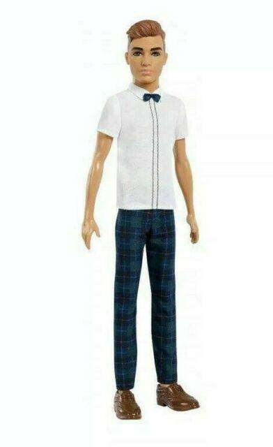 nib-2018-Mattel-BARBIE FASHIONISTAS KEN Slick Plaid Pants Brown Hair # 117