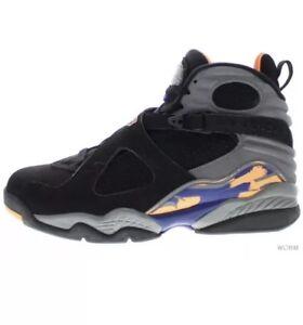 f26a981145d6 Nike Air Jordan VIII 8 Retro PHOENIX SUNS BLACK COOL GREY ORANGE ...