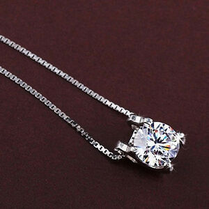 IG-FT-Women-Cubic-Zirconia-Pendant-Silver-Plated-Drop-for-Necklace-Chain-Jewel