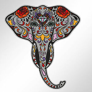 funny car bumper sticker sugar skull elephant day of the ...