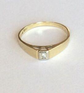 Ring-mit-Diamant-Gold-585-14K-Gr-59-18-8-mm-Gelbgold