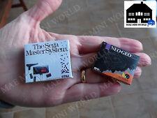 Miniature Box. Sega Master System, Neo Geo CD. Escala 1/12.