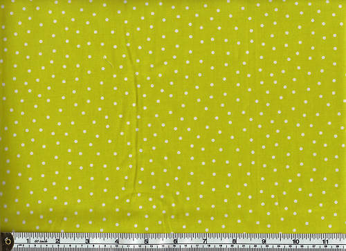 FREE AS A BIRD 100/% Cotton Stof Dots on Lt Lime Green MS-10-64
