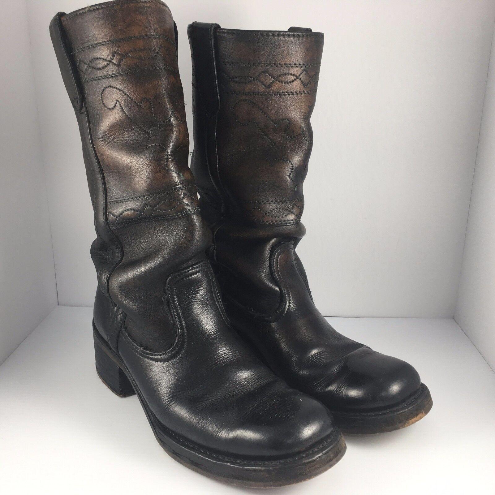 garanzia di qualità Vintage Double H Dark Cowboy Western 13  stivali stivali stivali Uomo Dimensione 8 D  il prezzo più basso
