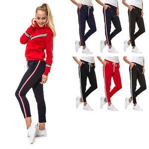 Hachiro-Damen-Hose-Freizeithose-Jogginghose-Trainingshose-Sportswear-Damenhose