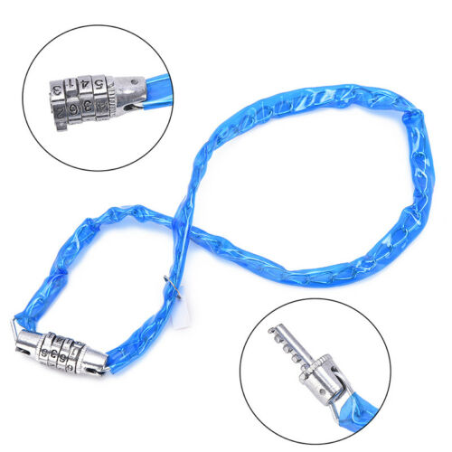 Bike Bicycle Cycling 4-Digit Combination Password Security Lock Chain Steel  X