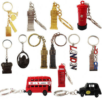 Bello London Key Rings Tags Gb Mini Icons Metal Brelock Gift Souvenir Travel England