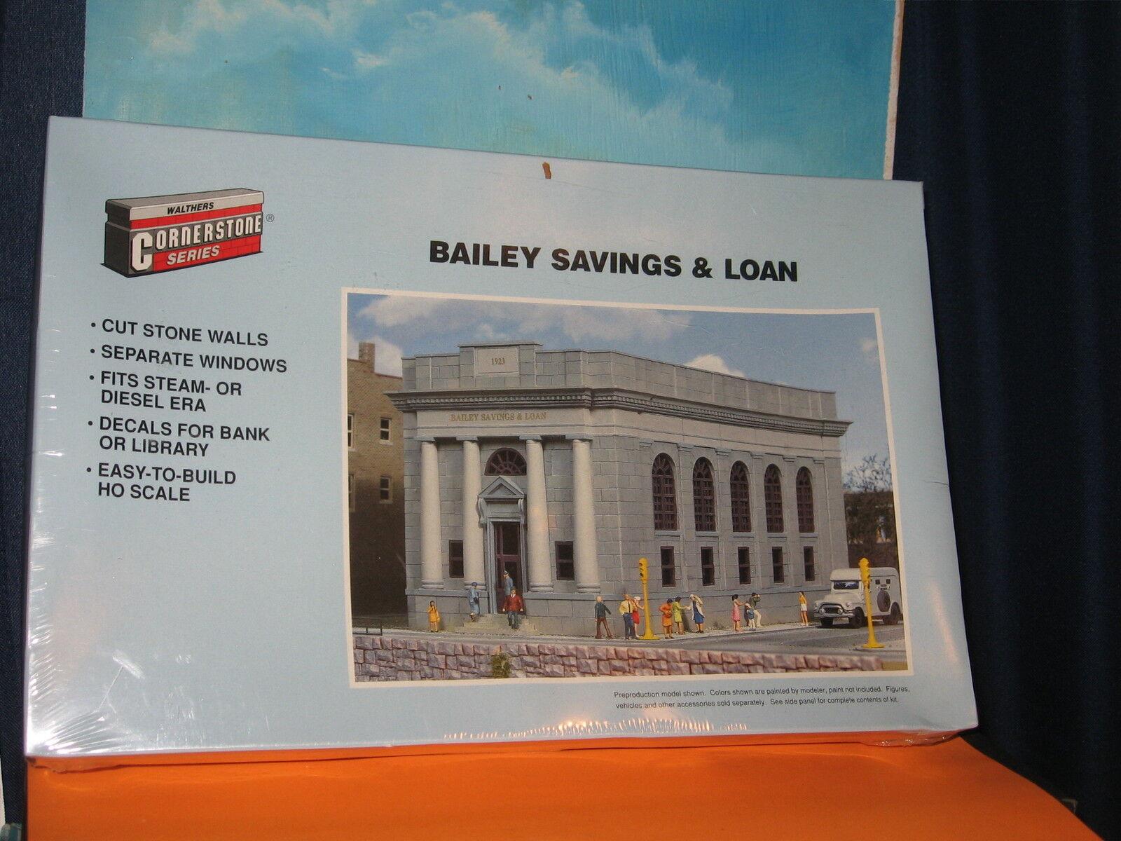 Walthers piedra angular de la serie Escala Ho Bailey ahorros y préstamos