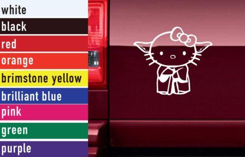 Star Wars Hello Kitty Yoda Vinyl Sticker Decal Car-Truck Laptop-Netbook 2976