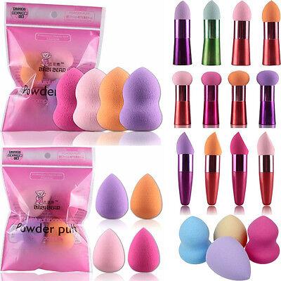 4pcs Latex Pro Beauty Flawless Makeup Blender Foundation Puff Multi Shape Sponge