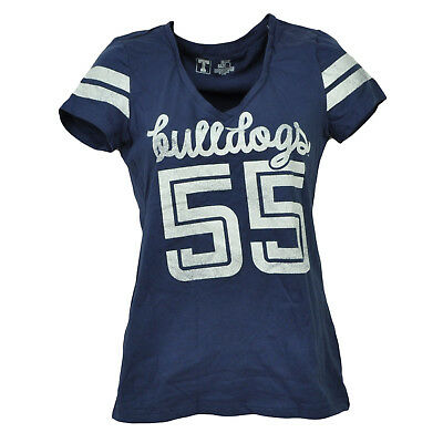 Baseball & Softball Energisch Ncaa Butler Bulldogs 55 V-ausschnitt T-shirt Kurzärmelig Damen Sport Script Logo Fanartikel