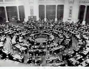 1941-Vintage-Photo-Reading-Room-of-German-State-Library-in-Berlin-Germany-WW2