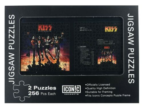 2 Puzzles 256 Pieces Each KISS Hard Rock Band Destroyer Jigsaw Puzzle Pack