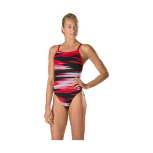 SPEEDO-Women-039-s-Havoc-State-Endurance-Flyback-Competition-Swimsuit-Size-30