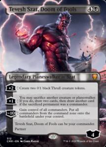 M512-MTG-4RCards Tevesh Szat Doom of Fools X1 Borderless- Commander Legends