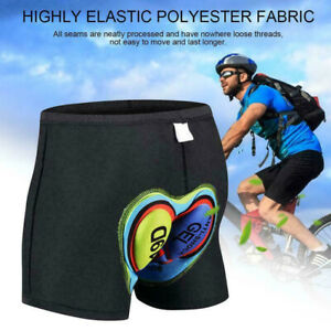 Men Women Cycling Underpants Underwear Black Shorts with 3D Padded