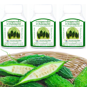 Details about 100 capsules Bitter Cucumber Momordica Charantia Bitter Gourd  Melon Herbal