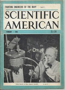 Scientific American Magazine February 1943 WWII Navy Engineers Seabees