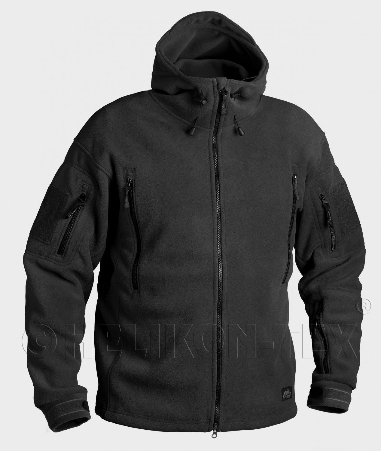 HELIKON TEX PATRIOT 390er HEAVY FLEECE Outdoor Kapuzen JACKE Jacket schwarz L